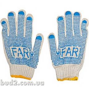Перчатки ПВХ белые с точкой тонкие