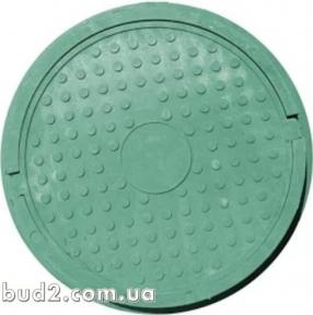 Люк круглый 700мм до 1т. зеленый, полимерпесчаный
