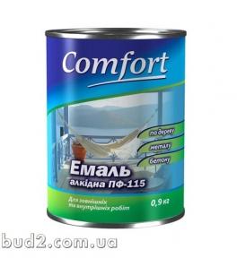Эмаль Комфорт ПФ-115 белая 0,9 кг