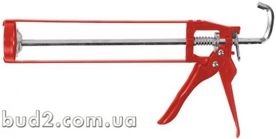 Пистолет для герметика скелетный красный 886125