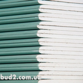 Гипсокартон KNAUF стеновой влагостойкий 2000х1200х12,5