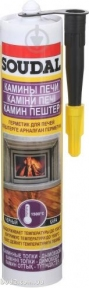 Герметик SOUDAL для каминов, печей <1500 °C (280 мл.)