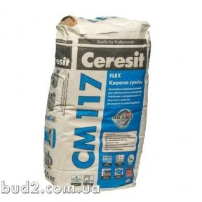 Клей для плитки эласт. Ceresit (Церезит)  СМ 117 (25 кг)