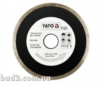 Диск отрезной алмазный для мокрой резки 125х5,3х2,2мм  YATO (YT-6013)
