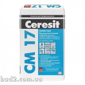 Клей для плитки эласт. супер Ceresit (Церезит)  СМ 17 (25 кг)