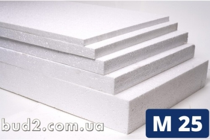 Пенопласт М25 (1х1м) 100мм