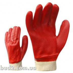 Перчатки резин. маслост. КРАСНЫЕ 27см мягкий манжет (4518)