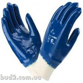 Перчатки щелочные с твердым манжетом 10,5 (851)