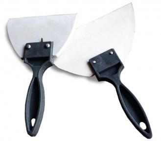 Шпатель резиновый белый с ручкой, 90 мм (8580300)