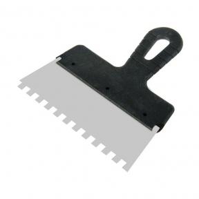 Шпатель с пластм. ручкой, 200 мм, зуб 8х8мм (85473)