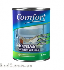 Эмаль Комфорт ПФ-115 желтая 0,9 кг
