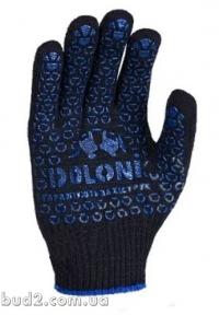 Перчатки Doloni ПВХ с точкой черные (667)
