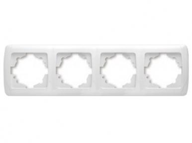 Рамка 4я горизонтальная белая RH