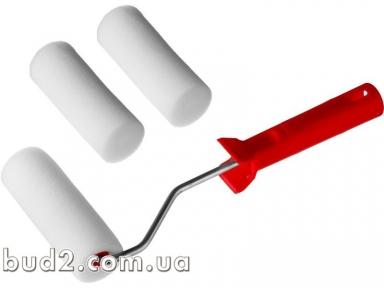 Набор валиков ПОРОЛОН с ручкой + 2 шубки, 140 мм(80450)