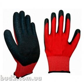 Перчатки вспененный латекс (красно-черные) (9445571) (4193)