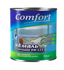 Эмаль Комфорт ПФ-115 серая 2,8 кг