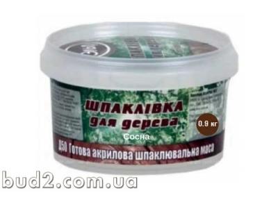 Шпаклевка акрил. д/дер, Эльф Д-50, сосна 0,9 кг