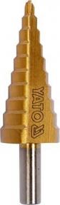 Сверло коническое ступенчатое по металлу титан YATO:HSS 4241 4,22 ммх75 мм (YT-44741)