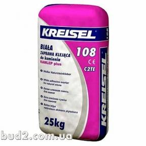 Клей для плитки белый Kreisel (Крайзель) -108 (25кг)