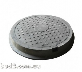 Люк круглый до 12,5т. черный, полимерпесчаный
