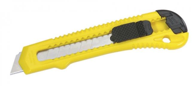 Нож с выдвиг.лезвием и отламыв.сегментами. 18х160мм Стэнли(1-10-143)