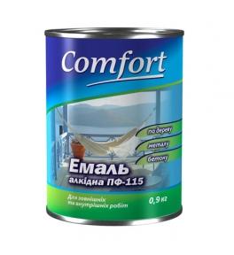 Эмаль Комфорт ПФ-115 зеленая 0,9 кг