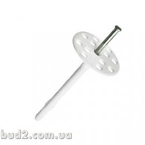 Дюбель для теплоизоляции с пластиковым гвоздем 10х140 БЕЛЫЙ (уп.100шт)