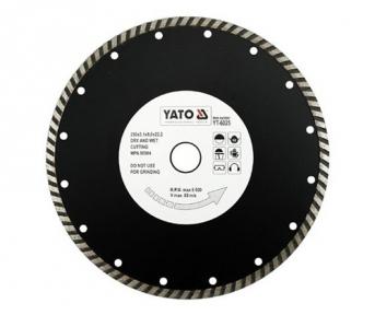 Диск отрезной алмазный ТУРБО 230х8х22,2мм, 3,1 мм  YATO (YT-6025)