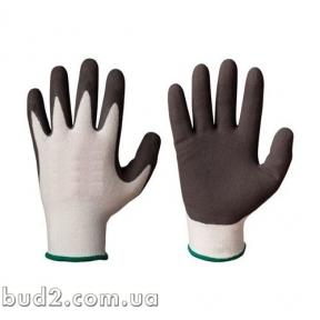 Перчатки вспененый латекс бело-черные 10р. (4182)