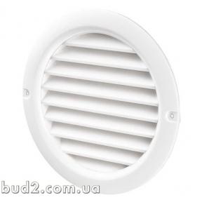Решетка вентиляционная пласт. круглая d150 мм, фланец d125 мм (60-061)