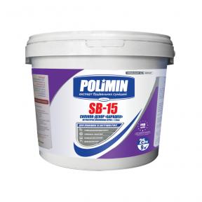 Штукатурка барашек силикон. Polimin (Полимин)  SВ-15 База C (25кг)