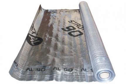 Паробарьер фольгированный Strotex AL-90 1,5х50м (75кв.м./рул)